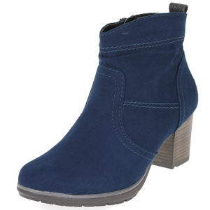 25371 Faux Suede Ankle Boot, Navy