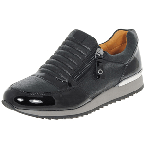 Caprice - 24605 Leather Trainer, Black