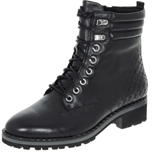 Caprice - 25208 Leather Biker Boot, Black
