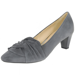 Gabor - 149.19 Suede Court Shoe, Dark Grey
