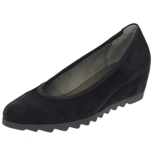 Gabor - 320.17 Suede Covered Wedge, Black