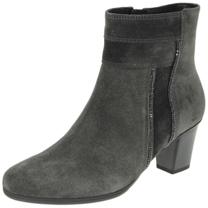 Gabor - 611.19 Suede Ankle Boot, Grey