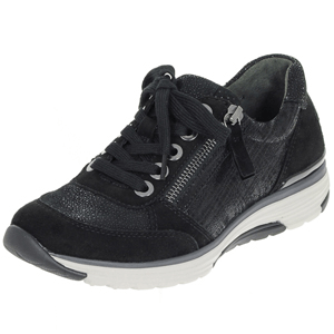 Gabor - 973.67 Rolling Soft Suede Trainer, Black