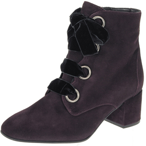 Hogl - 4142 Suede Ankle Boot, Dark Plum