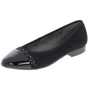 Jana - Soft Line 22166 Slip-On Pump, Black