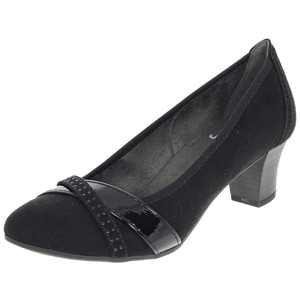 Jana - Soft Line 22403 Court Shoe, Black
