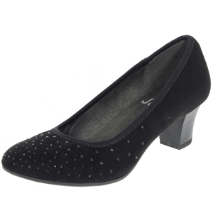Jana - Softline 22407 Court Shoe, Black