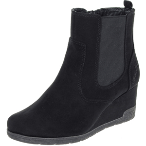 Jana - Soft Line 25373 Wedge Ankle Boot, Black
