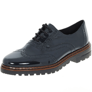 Rieker - 54812-45 Patent Lace-Up Brogue, Navy