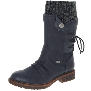 Rieker - 94750-14 Water Resistant Boot, Navy