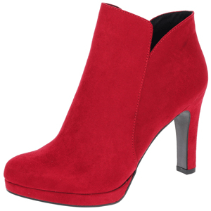 Tamaris - 25316 Heeled Ankle Boot, Lipstick