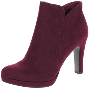 Tamaris - 25316 Heeled Ankle Boot, Wine