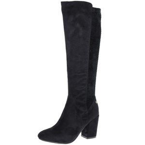 Xti - 48483 Heeled Long Boot, Black