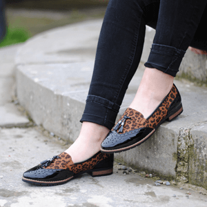Jana - Soft Line 24260 Slip-On Loafer, Leopard