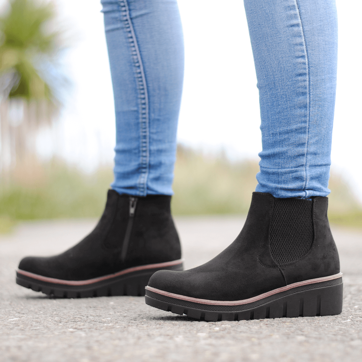 Rieker - 99182-00 Low Wedge Ankle Boot