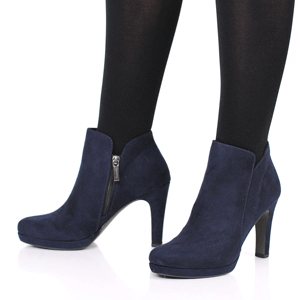 Tamaris - 25316 Heeled Ankle Boot, Navy