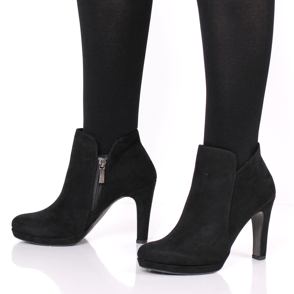 Tamaris 25316 Heeled Ankle Boot, Black