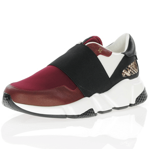 Amy Huberman - Set It Up Chunky Trainer, Burgundy