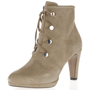 Caprice - 25103 Suede Ankle Boot, Taupe