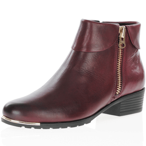 Caprice - 25310 Leather Ankle Boot, Bordeaux