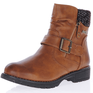 Jana - 26420 Water Resistant Ankle Boot, Cognac