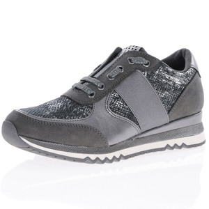 Marco Tozzi - 23711 Metallic Trainer, Dark Grey