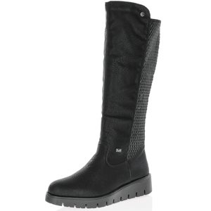 Rieker - X2390-00 Water Resistant Knee Boot, Black