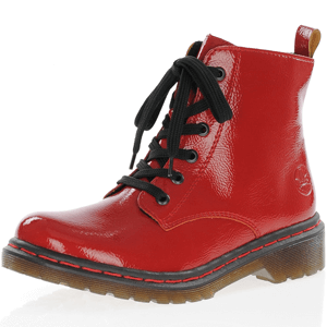 Rieker - Y8210-33 Patent Ankle Boot, Red