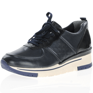 Tamaris - 23719 Leather Trainer, Navy
