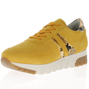 Tamaris - 23741 Leather Chunky Trainer, Mustard