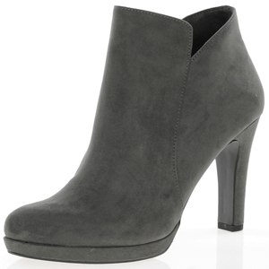 Tamaris - 25316 Heeled Ankle Boot, Graphite
