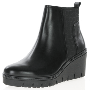 Tamaris - 25430 Chunky Wedge Boot, Black