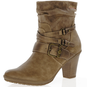 s.Oliver - 25334 Heeled Ankle Boot, Cashmere