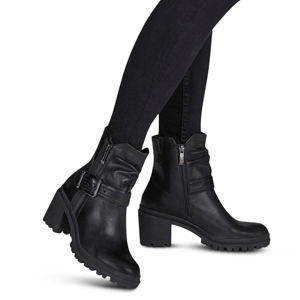 Tamaris - 25907 Leather Biker Boot, Black