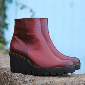 Gabor - 780.25 Wedge Ankle Boot, Dark Red