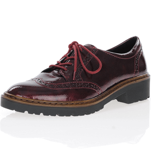Ara - 16502 Patent Brogue Shoe, Bordeaux