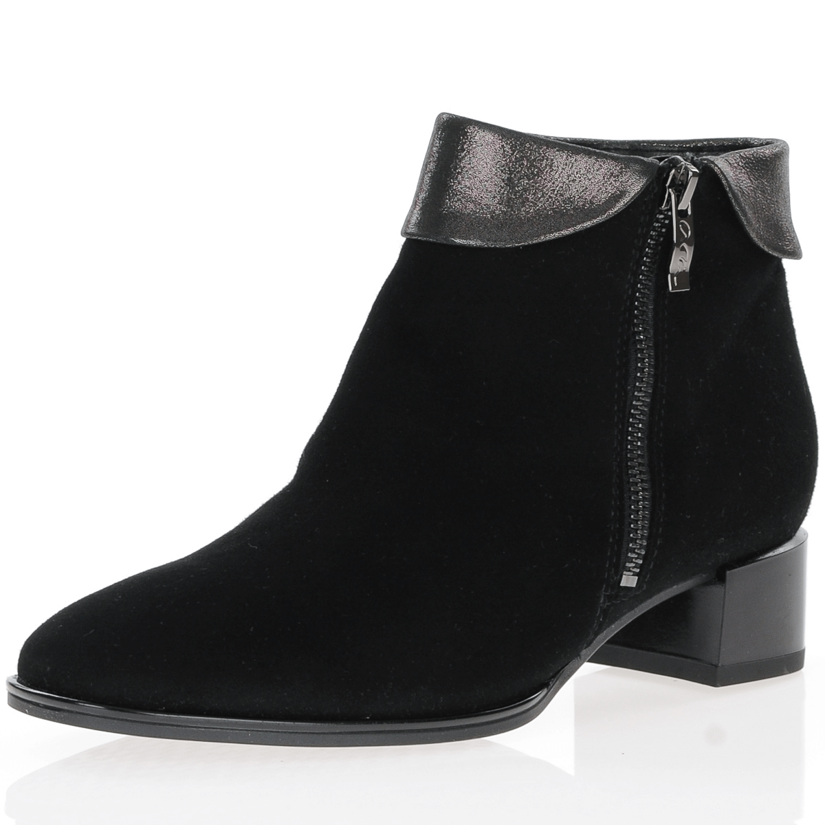 Ara - 16656 Suede Ankle Boots, Black