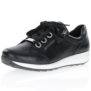 Ara - 34587 Leather Trainer, Black
