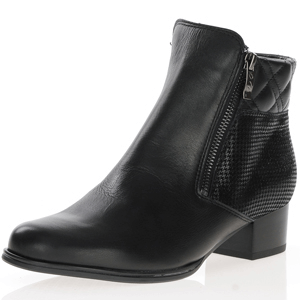 Ara - 63636 Leather Ankle Boots, Black