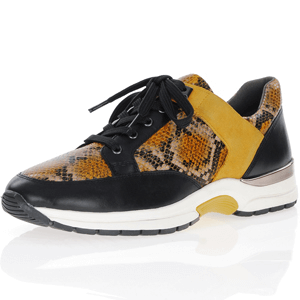 Caprice - 23700 Leather Trainers, Curry