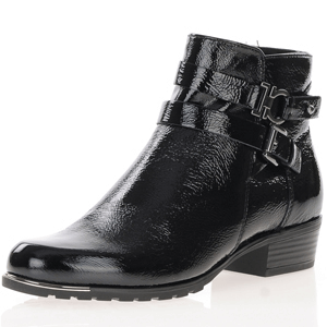 Caprice - 25309 Patent Leather Ankle Boots, Black