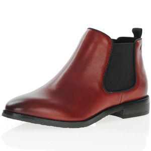 Caprice - 25327 Leather Chelsea Boots, Dark Red