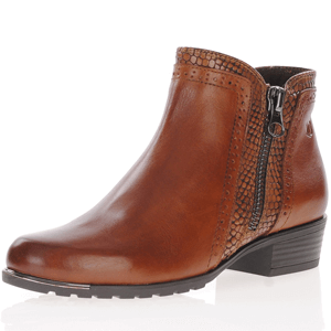 Caprice - 25403 Leather Ankle Boots, Cognac