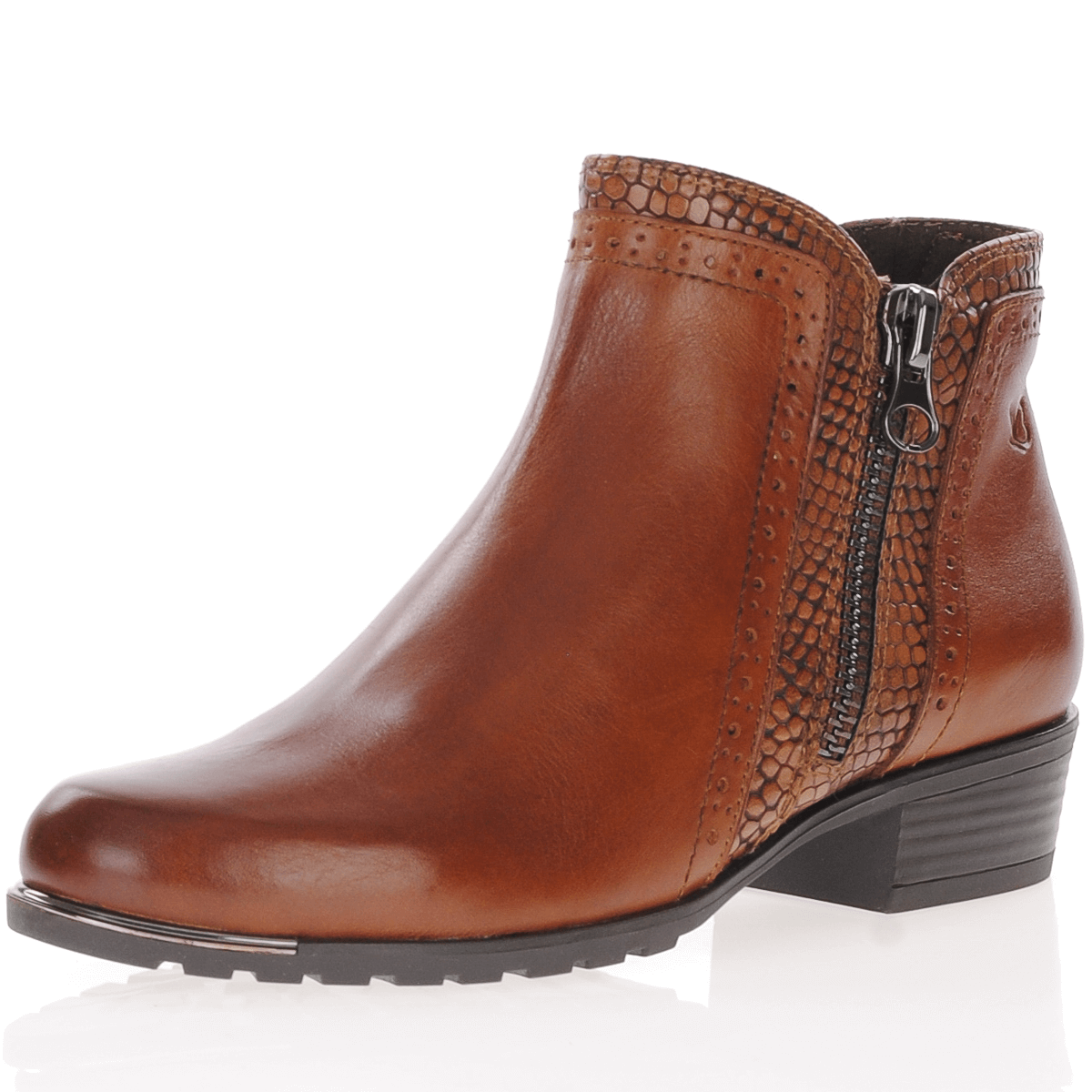 25403 Leather Ankle Boots, Cognac, The