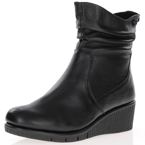 Caprice - 25460 Low Wedge Slouch Boots, Black