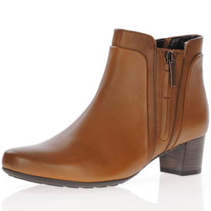 Gabor - 828.52 Leather Ankle Boots, Cognac