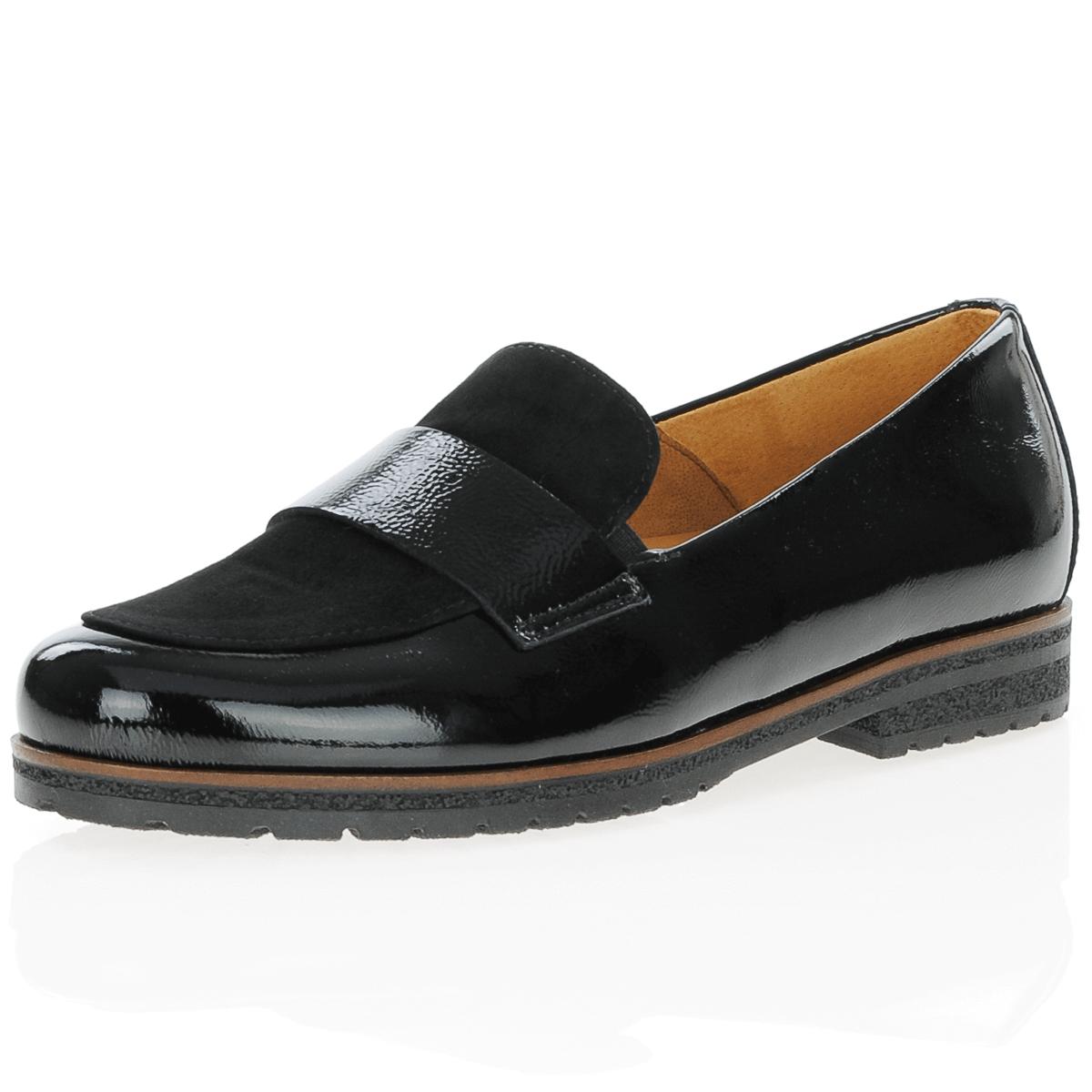 Gabor - 432.37 Patent Loafer, Black
