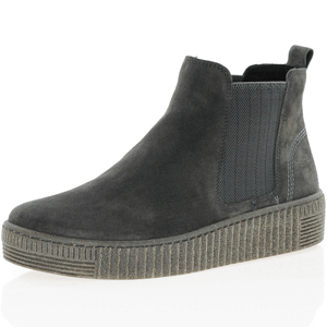 Gabor - 731.19 Suede Chelsea Boot, Dark Grey