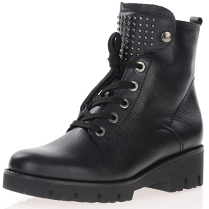 Gabor - 775.57 Lace Up Biker Boots, Black