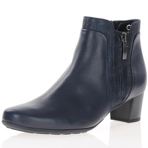 Gabor - 828.56 Leather Ankle Boots, Navy